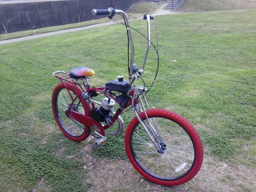 Custom Chopper Ape Hangar Motorized Bicycle