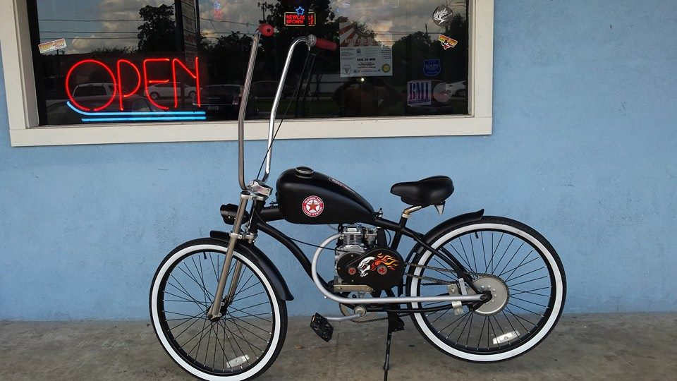 Sportster chopper 4 stroke 1800 custom motorized for Custom motorized bicycles parts