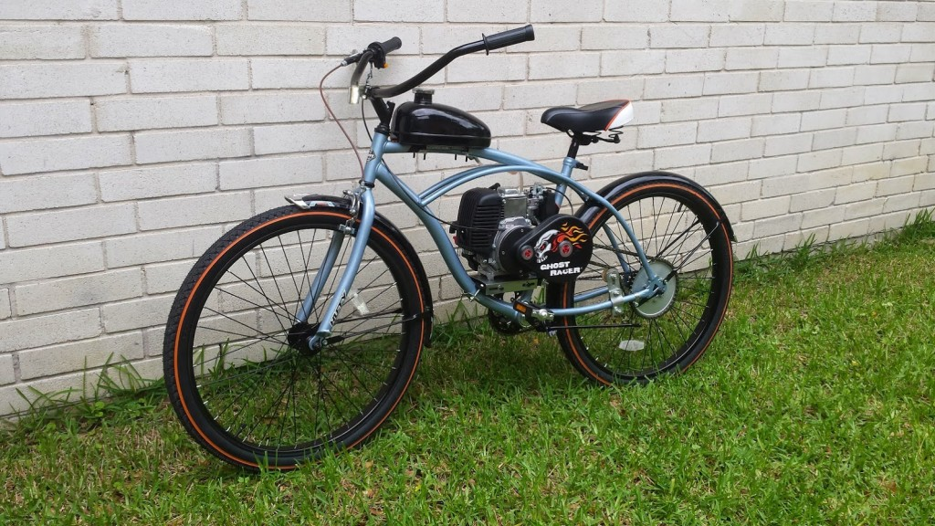 Basic 4 stroke beach cruiser 900 custom motorized for Custom motorized bicycles parts